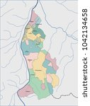 map of liechtenstein | Shutterstock .eps vector #1042134658