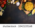 pasta and ingredients for... | Shutterstock . vector #1042135168