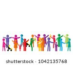 colorful abstract pictograms... | Shutterstock .eps vector #1042135768
