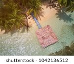 bungalow on caribbean island... | Shutterstock . vector #1042136512