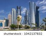 Stock photo west bay in doha qatar 1042137832