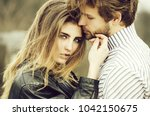 girl or beautiful woman with... | Shutterstock . vector #1042150675