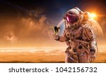 there is life on other planet.... | Shutterstock . vector #1042156732