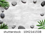 grey spa background  spa... | Shutterstock . vector #1042161538