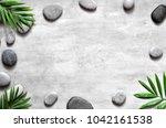 grey spa background  spa... | Shutterstock . vector #1042161538