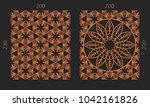 laser cutting set. woodcut...   Shutterstock .eps vector #1042161826