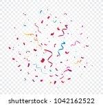 colorful confetti explosion ... | Shutterstock .eps vector #1042162522