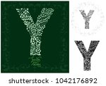 letter y made with decorative... | Shutterstock .eps vector #1042176892