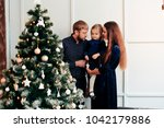 young mother and father and...   Shutterstock . vector #1042179886