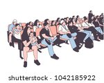 illustration of movie theater... | Shutterstock .eps vector #1042185922