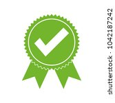 approved certified icon.... | Shutterstock .eps vector #1042187242