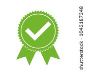 approved certified icon.... | Shutterstock .eps vector #1042187248