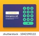 simple user interface keypad... | Shutterstock .eps vector #1042190122