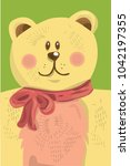 baby vector illustration bear... | Shutterstock . vector #1042197355
