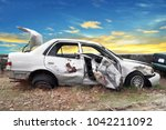 Side View Of Crash Car With...