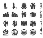 people population icon set | Shutterstock .eps vector #1042215478