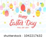 easter typography.happy easter... | Shutterstock .eps vector #1042217632