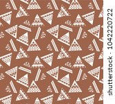 abstract tribal art ethnic... | Shutterstock .eps vector #1042220722