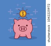 piggy bank and money related... | Shutterstock .eps vector #1042225972