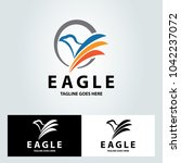 eagle logo design template.... | Shutterstock .eps vector #1042237072