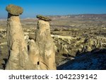three graces fairy chimneys in  ... | Shutterstock . vector #1042239142