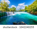 manavgat waterfall in turkey | Shutterstock . vector #1042240255