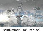 Frozen Air Bubbles Inside Ice...