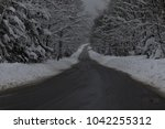 a quiet country road in vermont ... | Shutterstock . vector #1042255312