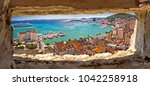 split waterfront aerial... | Shutterstock . vector #1042258918