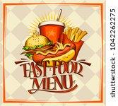 fast food menu design concept.... | Shutterstock .eps vector #1042262275