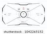 futuristic vector hud interface ... | Shutterstock .eps vector #1042265152