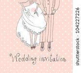 bride and groom. cute wedding...   Shutterstock .eps vector #104227226