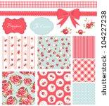 vintage rose pattern  frames... | Shutterstock .eps vector #104227238