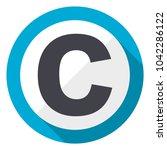 copyright blue flat design web... | Shutterstock . vector #1042286122