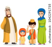 vector arabic family in... | Shutterstock .eps vector #1042291735