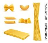 vector 3d realistic set of dry... | Shutterstock .eps vector #1042294042