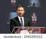 jimmy kimmel at lionel richie... | Shutterstock . vector #1042295212