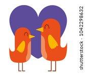 beauty birds lovely heart love...   Shutterstock .eps vector #1042298632