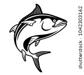 tuna blackfin vector... | Shutterstock .eps vector #1042303162