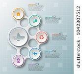 vector abstract 3d paper... | Shutterstock .eps vector #1042307512