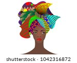 portrait of the young african... | Shutterstock .eps vector #1042316872