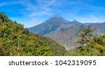 santa maria volcano   active... | Shutterstock . vector #1042319095