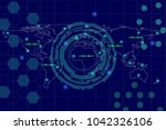 abstract background for digital ... | Shutterstock .eps vector #1042326106