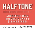 vector display font design with ... | Shutterstock .eps vector #1042327372