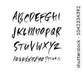 vector fonts   handwritten... | Shutterstock .eps vector #1042334392