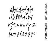 vector fonts   handwritten... | Shutterstock .eps vector #1042334866