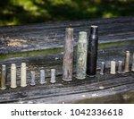 bullet casings of different...   Shutterstock . vector #1042336618