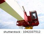 crane under maintenance routine ... | Shutterstock . vector #1042337512