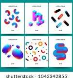 placard templates set with... | Shutterstock .eps vector #1042342855
