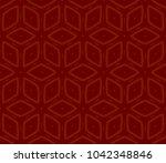 decorative seamless geometric... | Shutterstock .eps vector #1042348846